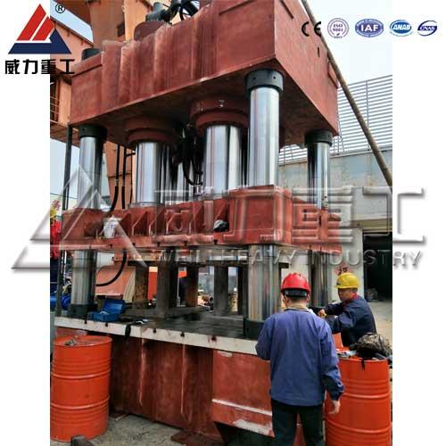 3000吨三梁四柱液压机(YW32-3000T)三梁四柱油压机