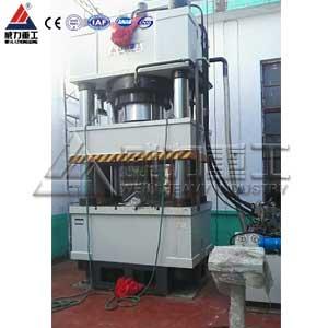 1200吨三梁四柱液压机(YW32-1200T)三梁四柱油压机
