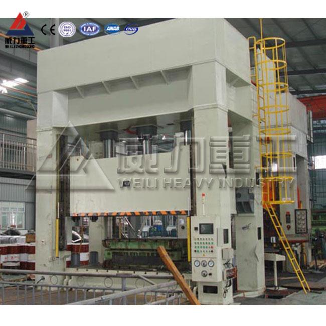 YW79K数控伺服粉末成型框式液压机,框架式四柱液压机