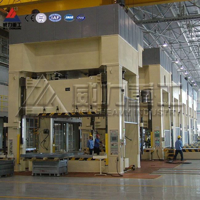 冶金粉末成型框式液压机,金属粉末成型框架式四柱液压机