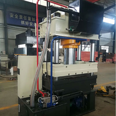 315吨石英石制品成型三梁四柱液压机